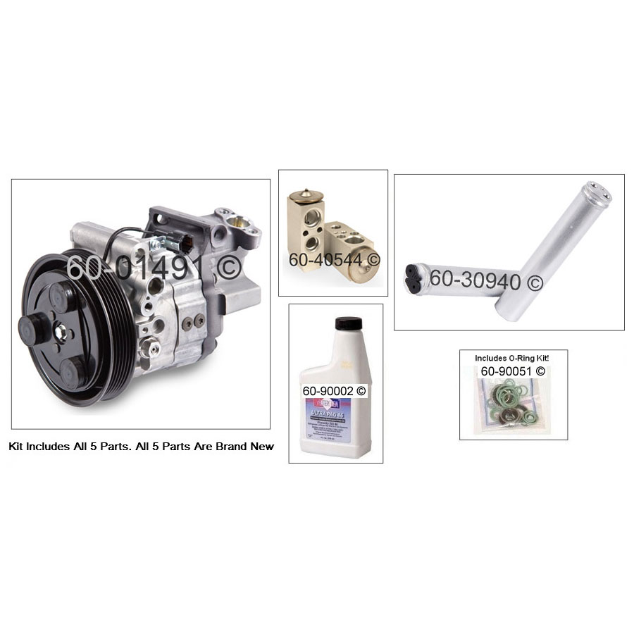 A/C Compressor and Components Kit 60-81433 RK