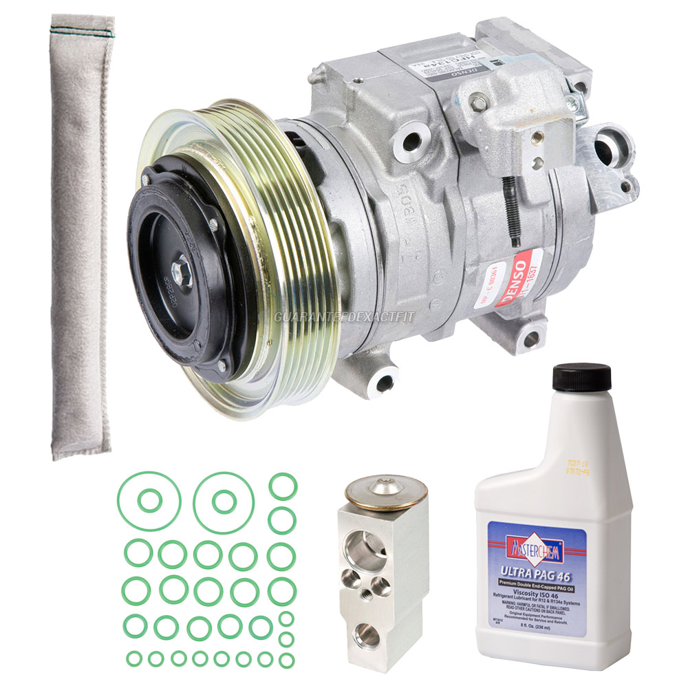 New OEM Genuine AC Compressor & Clutch + A/C Repair Kit