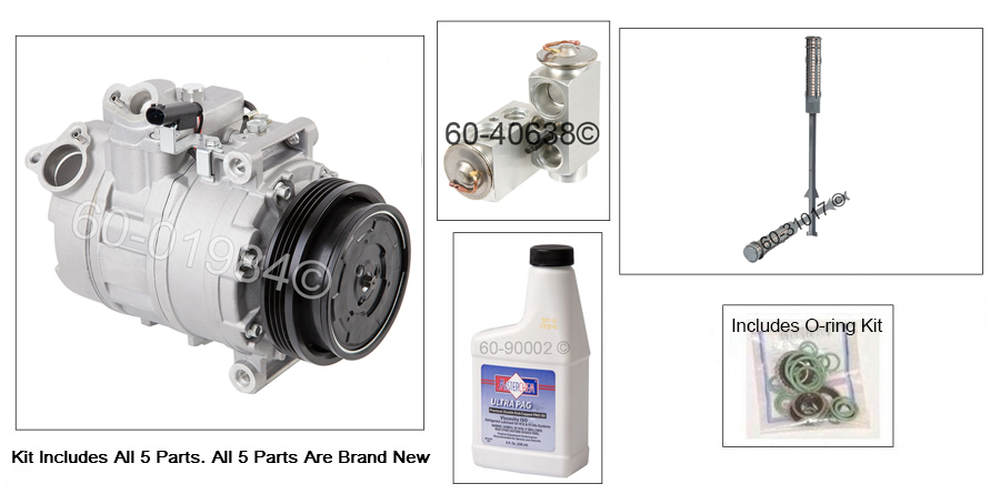 BMW 545 A/C Compressor and Components Kit