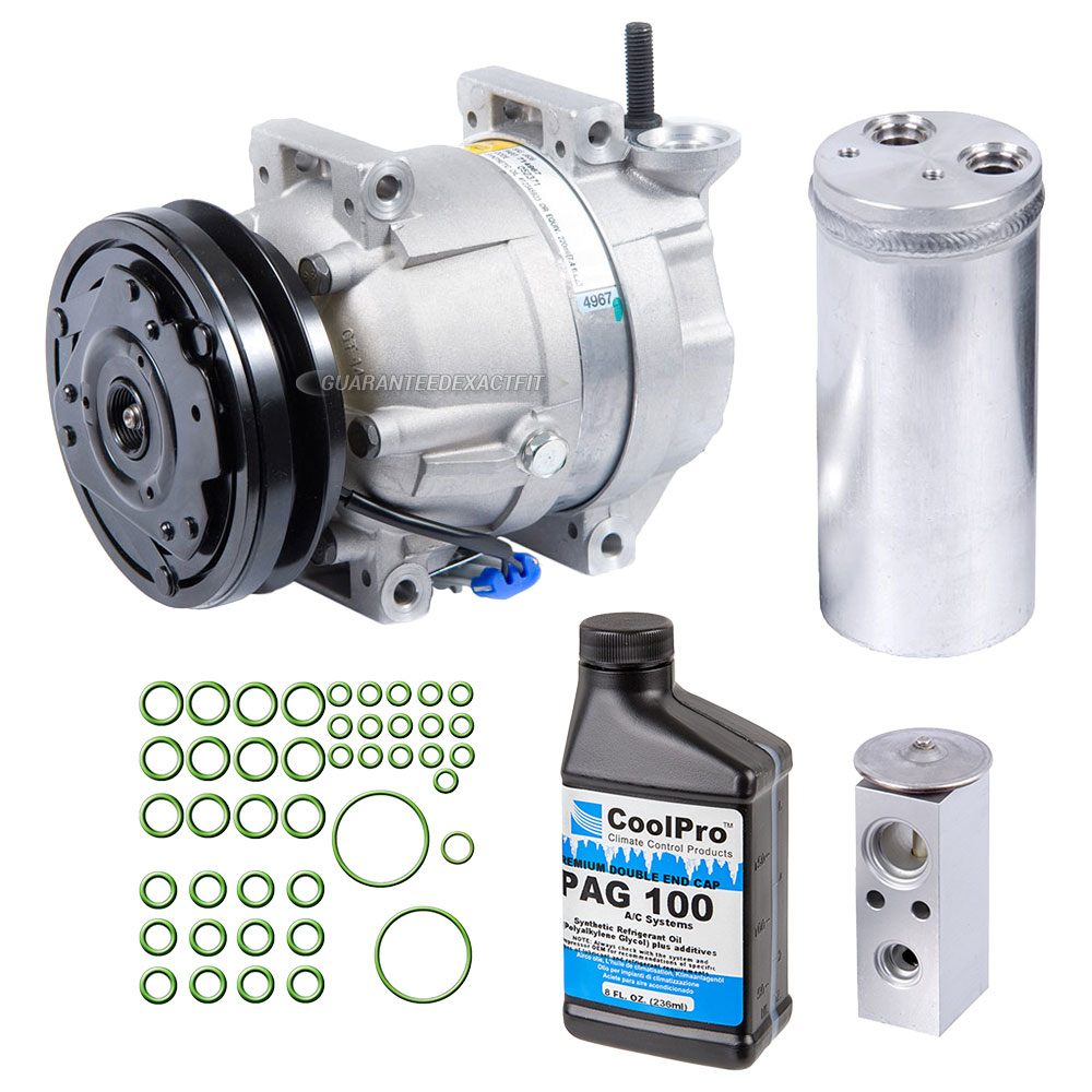 Daewoo Lanos Ac Compressor And Components Kit Oem Aftermarket Leganza Fuel Filter Location A C