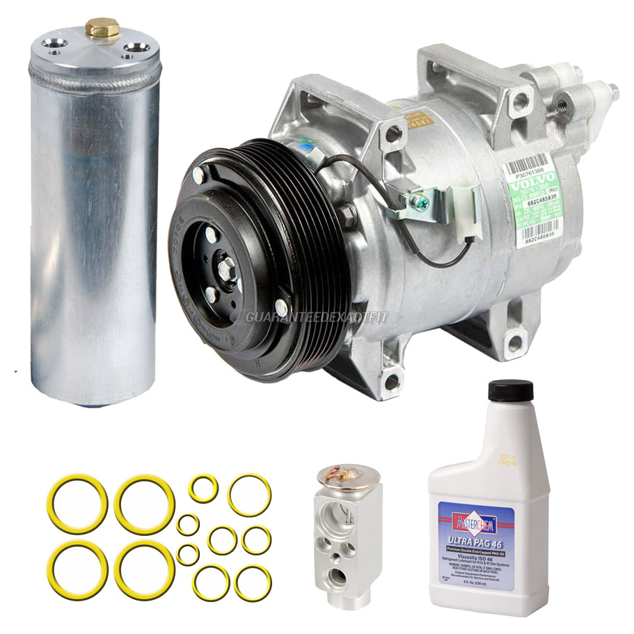 AC Compressor and Components Kits for Volvo S60, Volvo S80 and ...