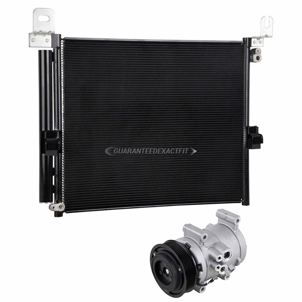 BuyAutoParts 60-86995R3 New For Toyota Tacoma 2013 2014 2015 AC Compressor w//A//C Condenser /& Drier