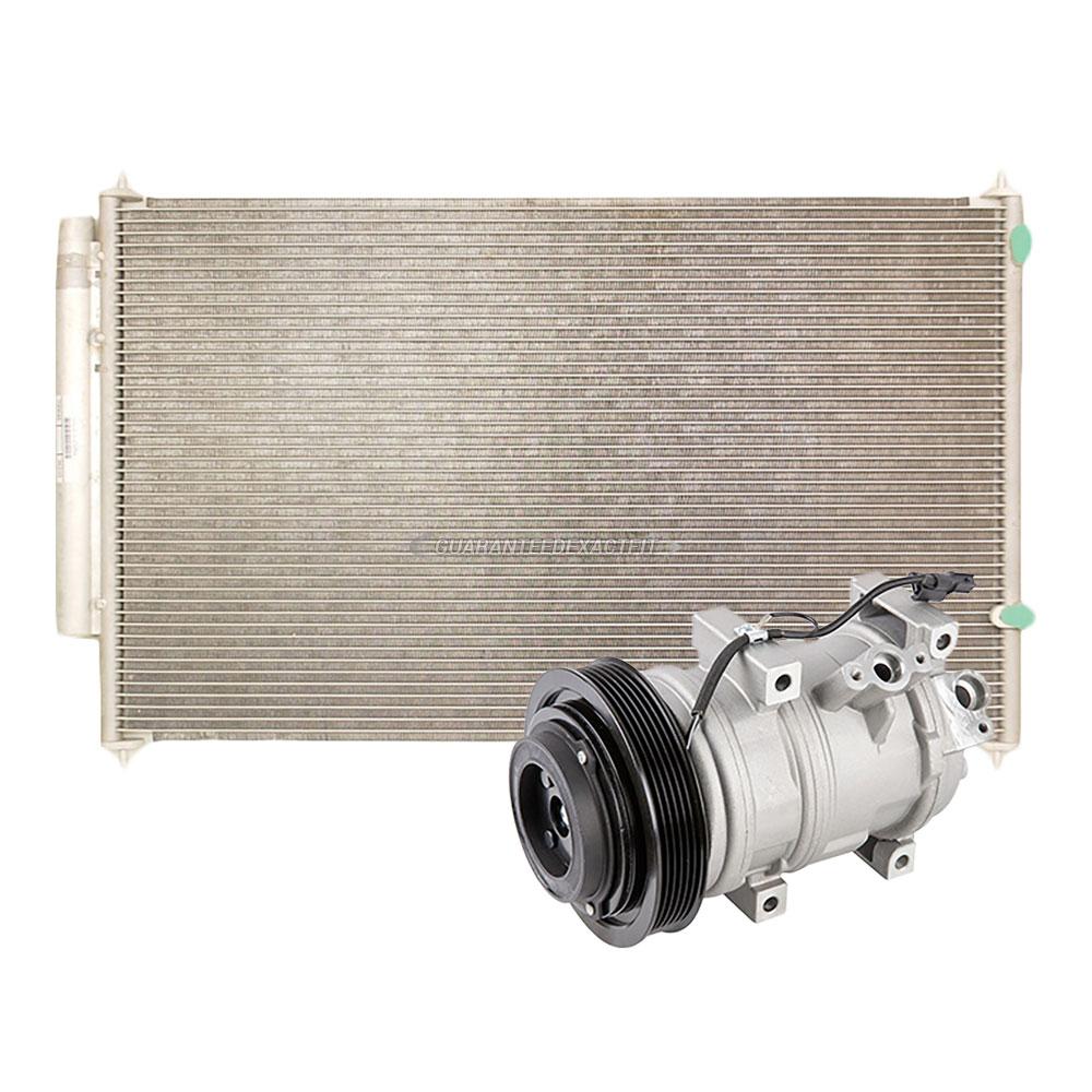 AC Compressor W/ A/C Condenser & Drier For Acura MDX 2007