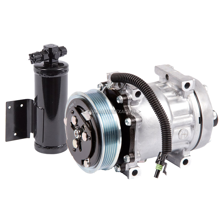 Genuine OEM New AC Compressor + Clutch With A/C Drier For