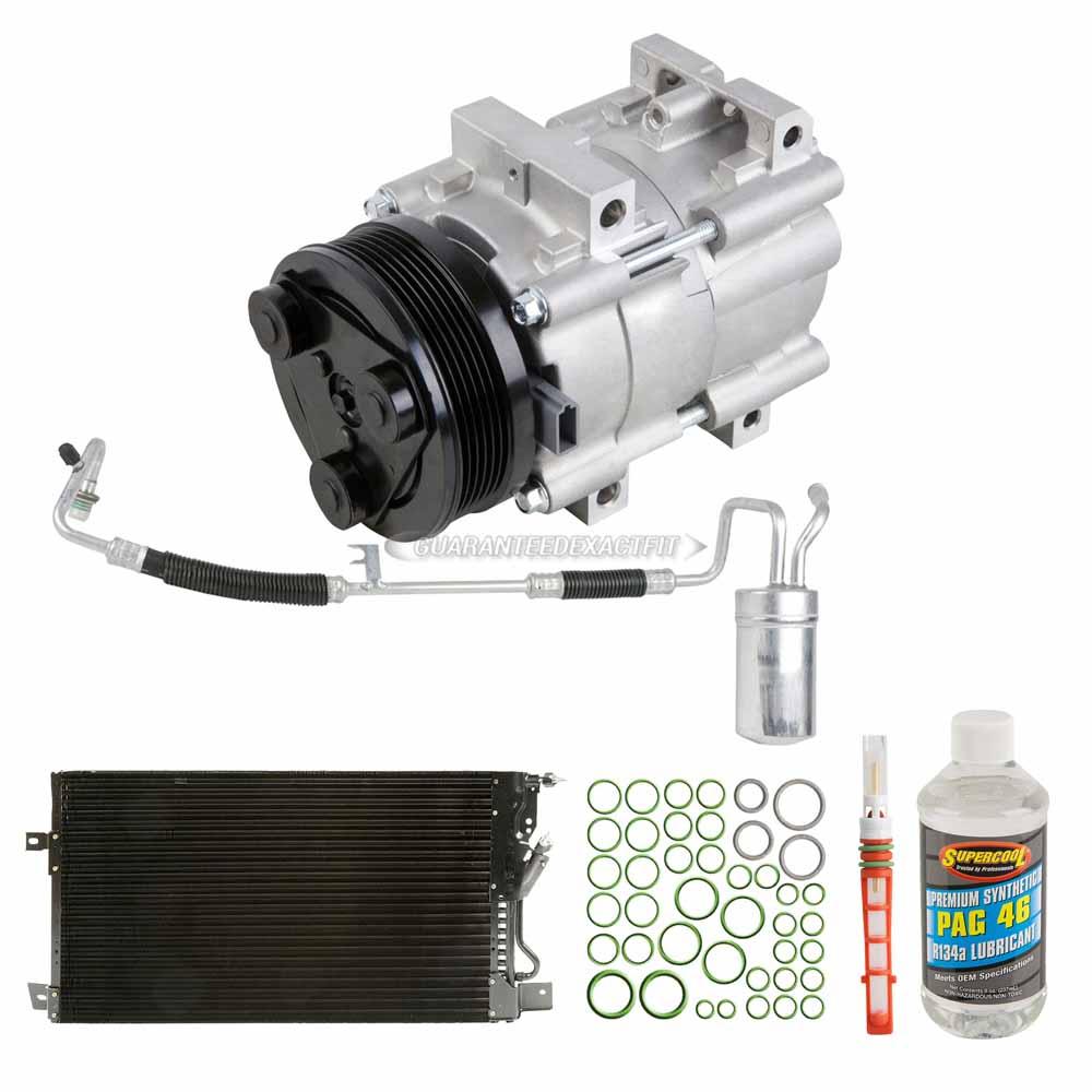Oem Ac Compressor W   Condenser Drier For Ford Taurus  U0026 Mercury Sable 2001