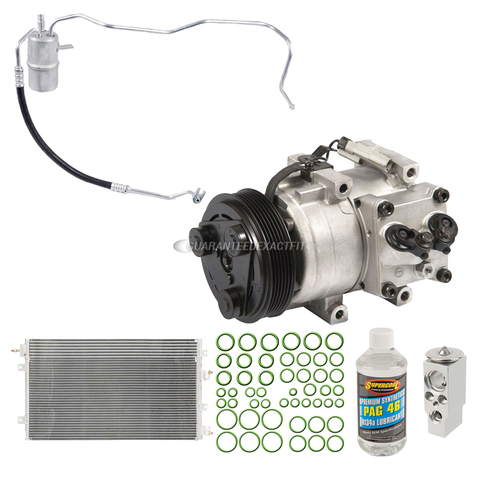 2006 Chrysler Sebring A  C Compressor And Components Kit 2 7l Convertible 61