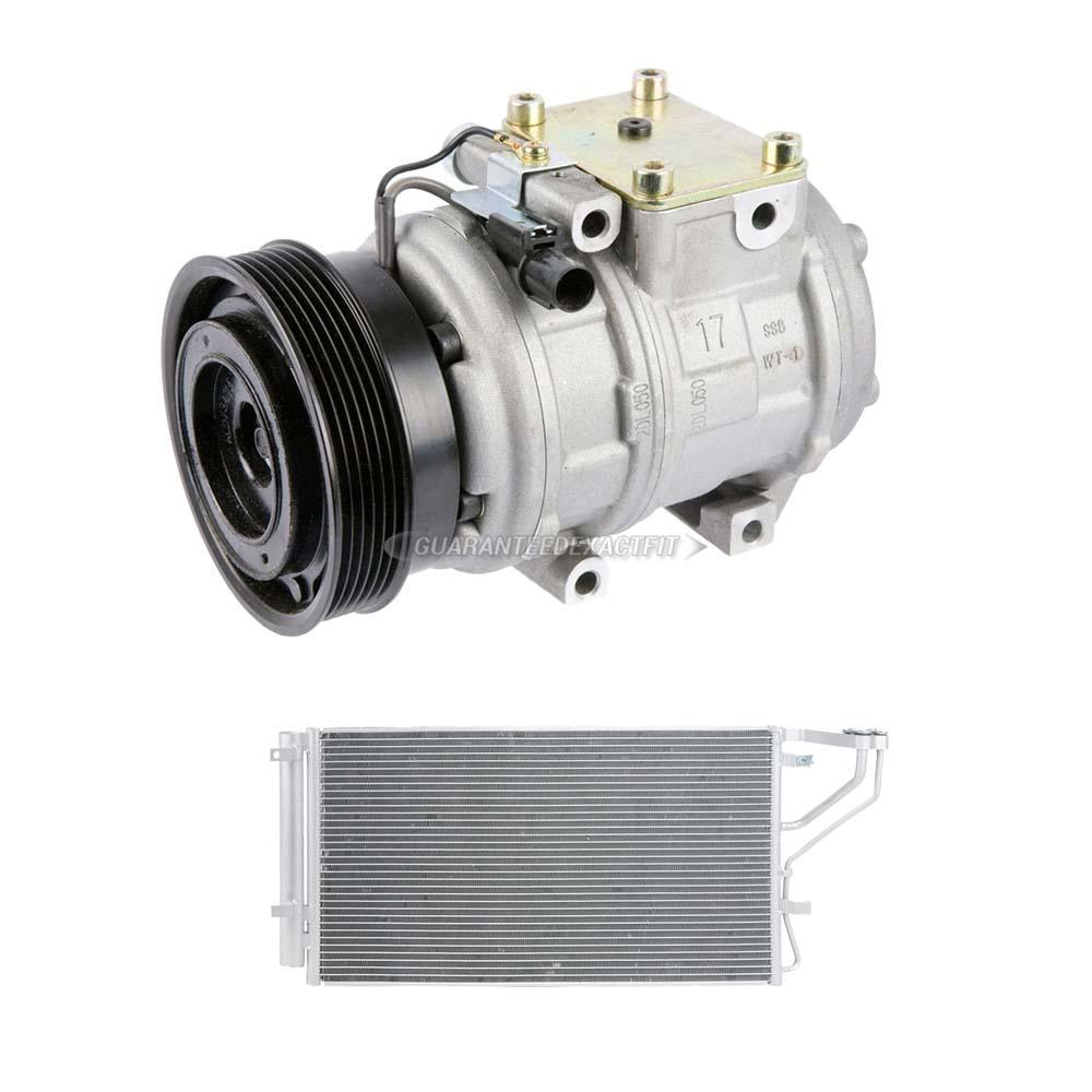 For Kia Rondo 2008 AC Compressor W/ A/C Condenser & Drier