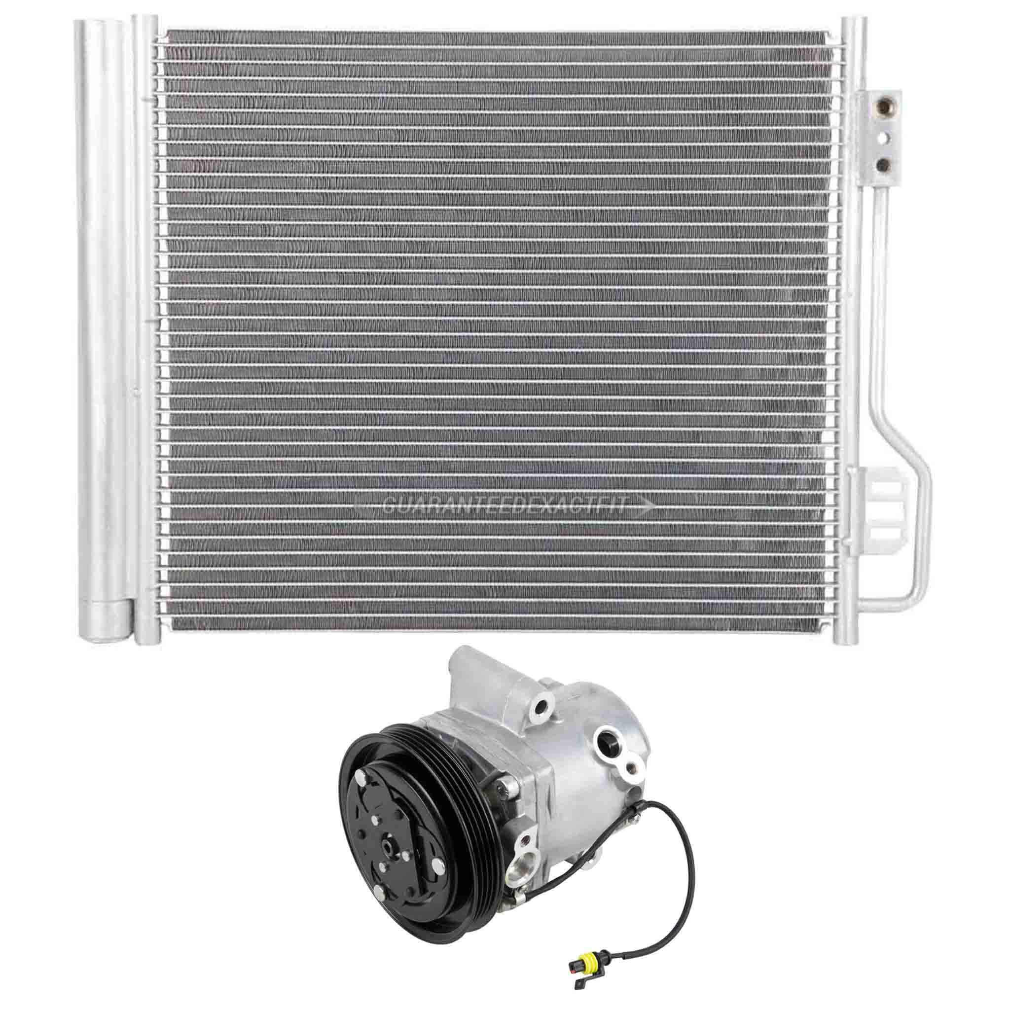 For Smart Fortwo 2008-2015 AC Compressor W/ A/C Condenser