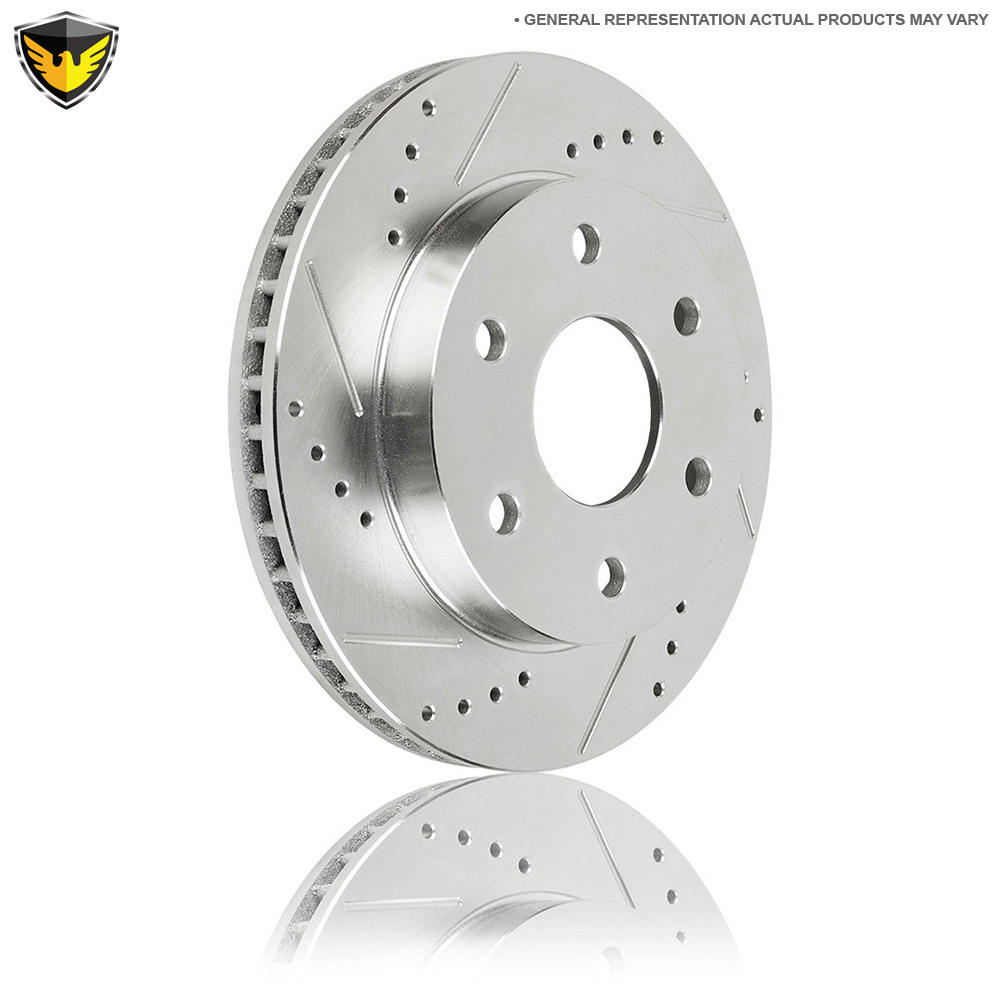 Fit 2010 Hyundai Elantra Front Rear Sport Drilled Brake Rotors+Ceramic Brake Pad