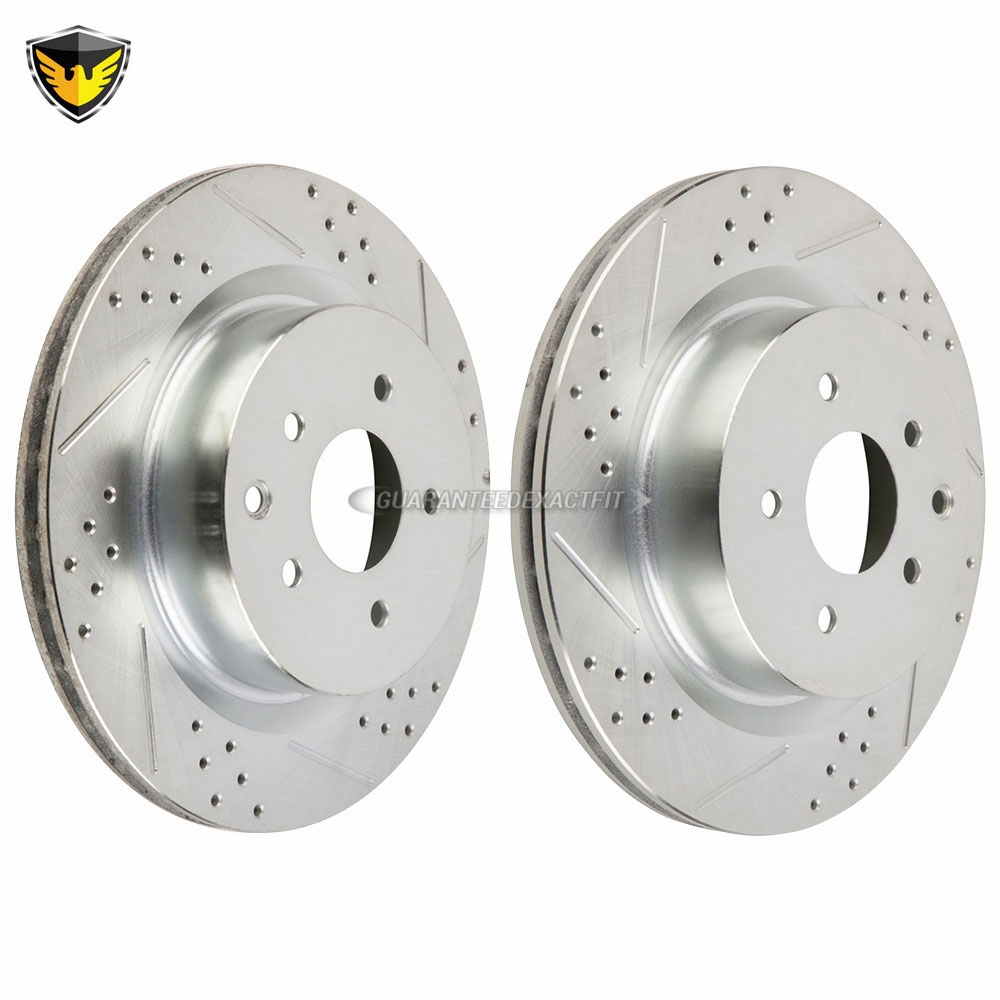 2004 Infiniti G35 Rotors: For Infiniti G35 Nissan 350Z W/ Brembo Drilled Slotted