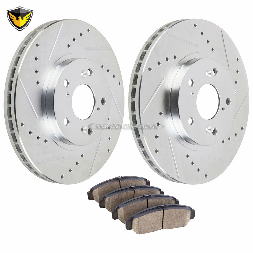 2011 Honda Accord Brake Pad And Rotor Kit Ex L Front 71