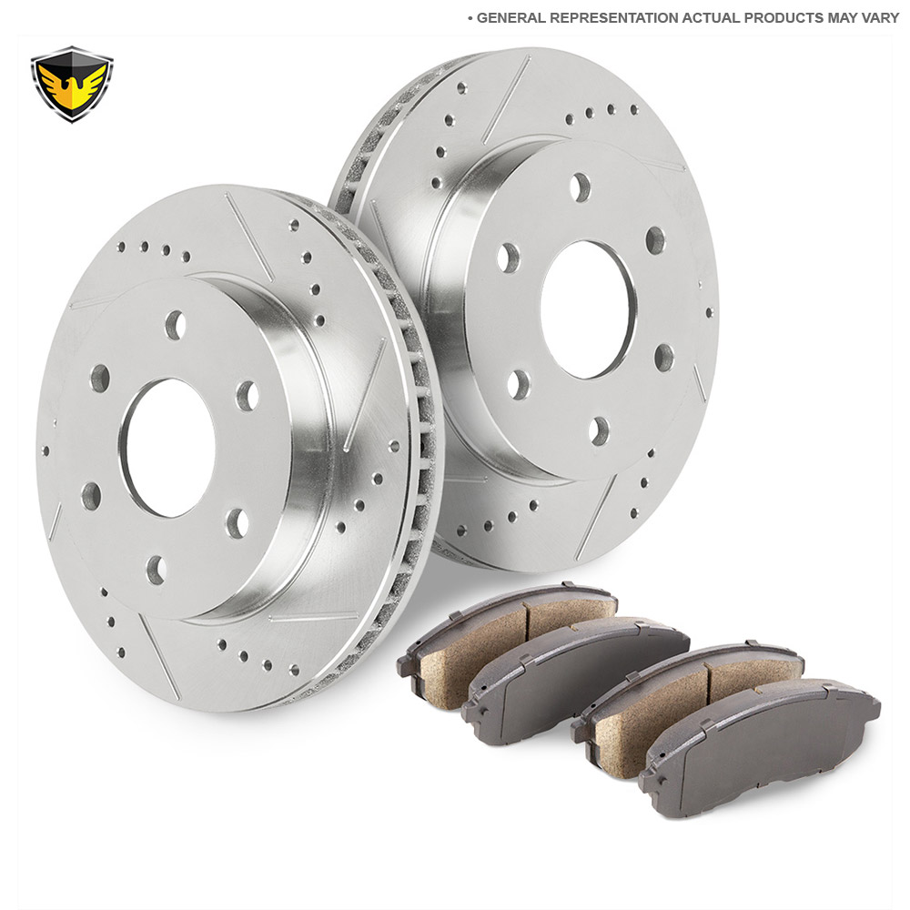 GMC Envoy Brake Pad and Rotor Kit
