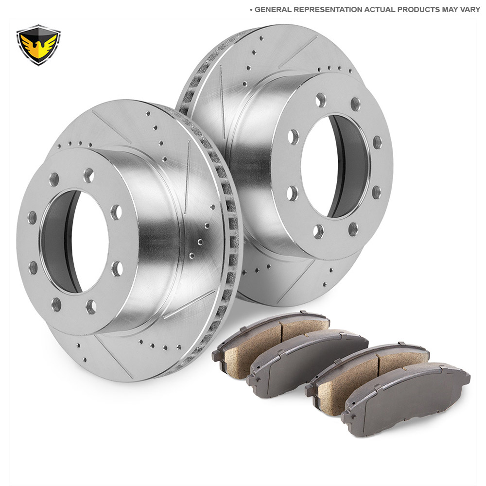 GMC Sierra Brake Pad and Rotor Kit