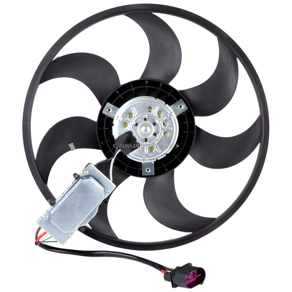 2012 Audi Q7 Cooling Fan Assembly Right Side
