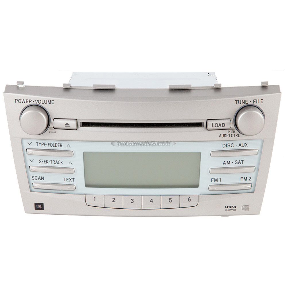 2007 toyota camry radio or cd player am fm aux mp3 single cd radio with face code 51823 or 51862. Black Bedroom Furniture Sets. Home Design Ideas