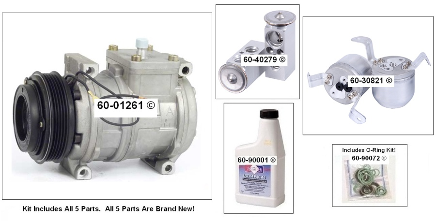 BMW 328 A/C Compressor and Components Kit