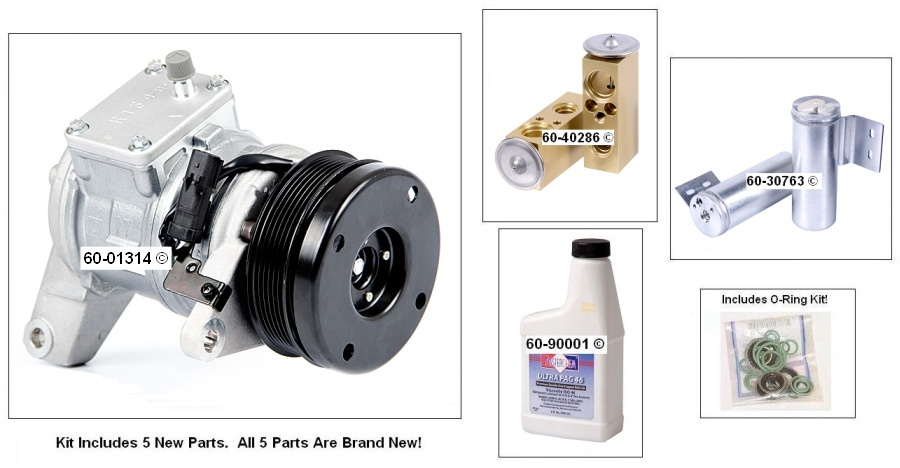 Plymouth Voyager A/C Compressor and Components Kit