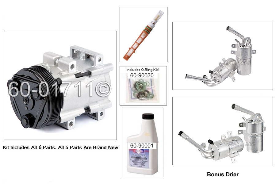 Ford Focus A/C Compressor and Components Kit