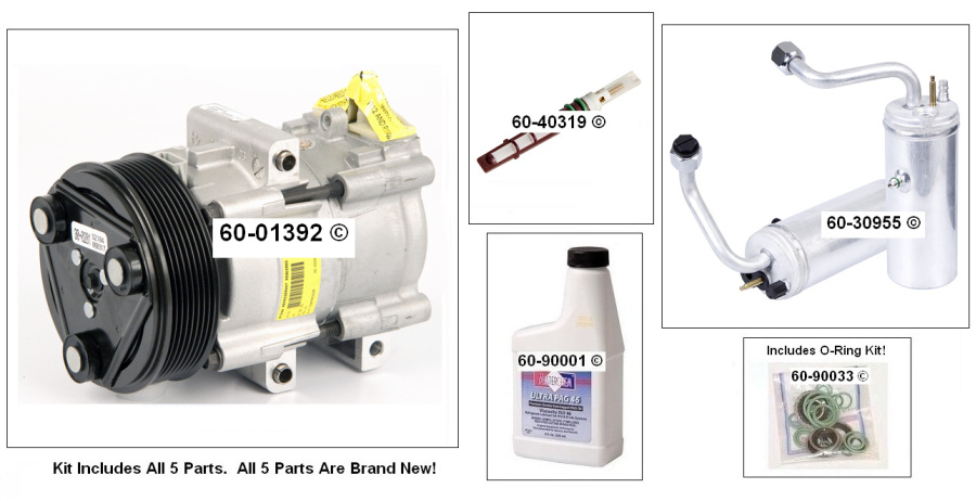 Ford F Series Trucks A/C Compressor and Components Kit