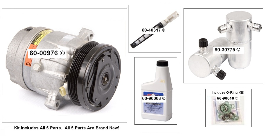 A/C Compressor and Components Kit 60-80193 RK