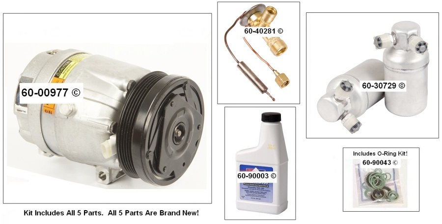 A/C Compressor and Components Kit 60-80197 RK