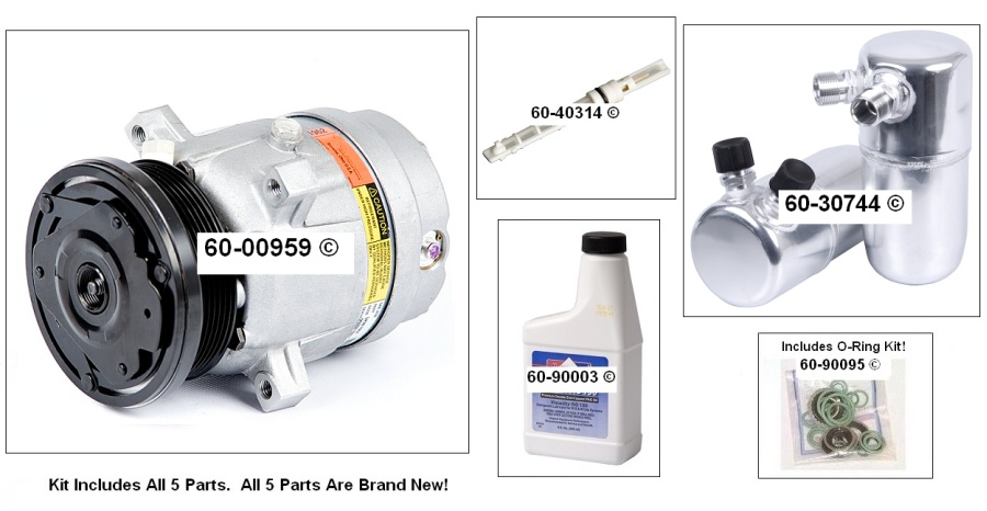 A/C Compressor and Components Kit 60-80235 RK