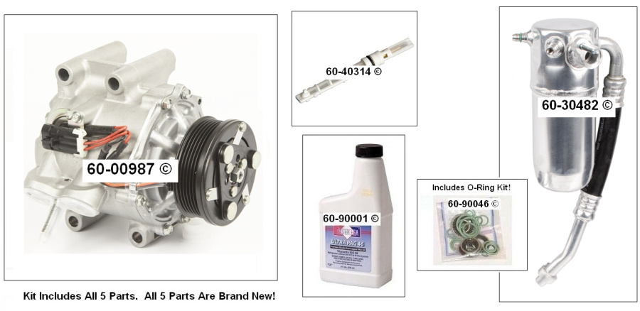 Oldsmobile Bravada A/C Compressor and Components Kit