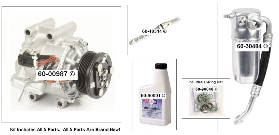 Isuzu Ascender A/C Compressor and Components Kit