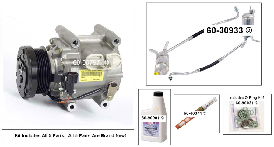 A/C Compressor and Components Kit 60-80274 RK