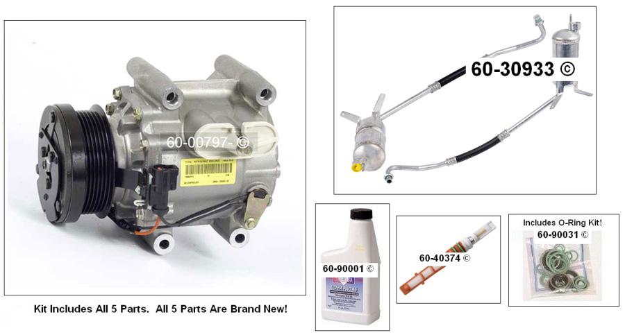Jaguar X Type A/C Compressor and Components Kit