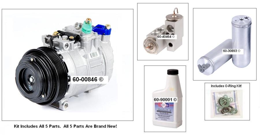 Mercedes Benz ML320 A/C Compressor and Components Kit