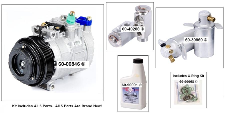 Mercedes Benz C36 AMG A/C Compressor and Components Kit