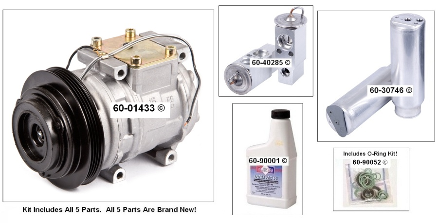 A/C Compressor and Components Kit 60-80209 RK