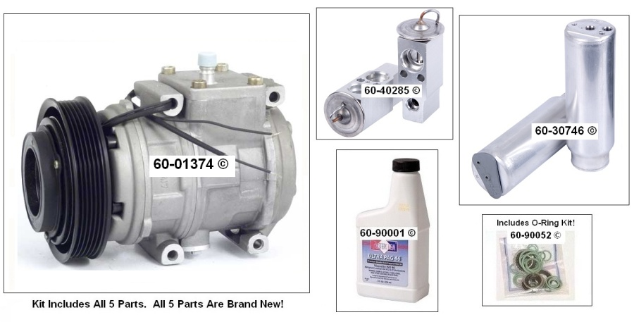 A/C Compressor and Components Kit 60-80129 RK