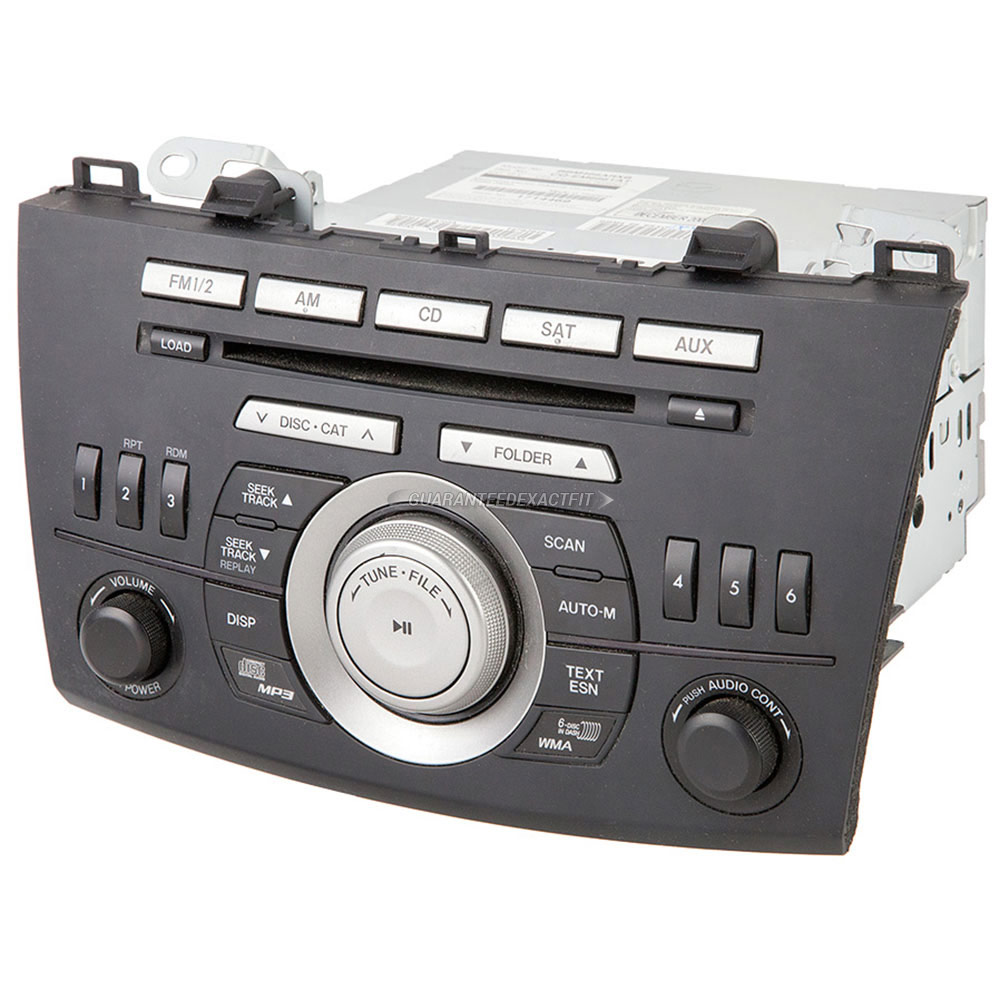 2010 mazda 3 radio or cd player am fm xm aux mp3 6cd radio. Black Bedroom Furniture Sets. Home Design Ideas