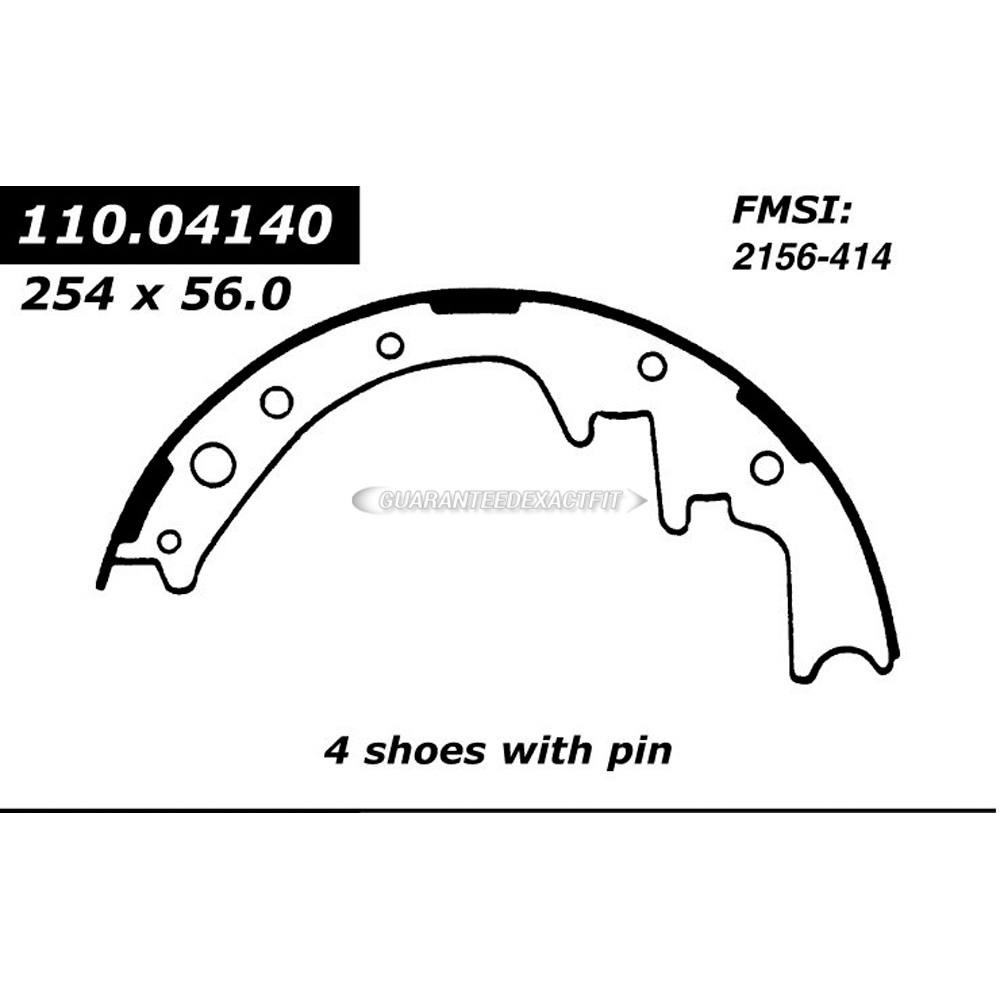 Centric Parts 111.04140 Brake Shoe Set