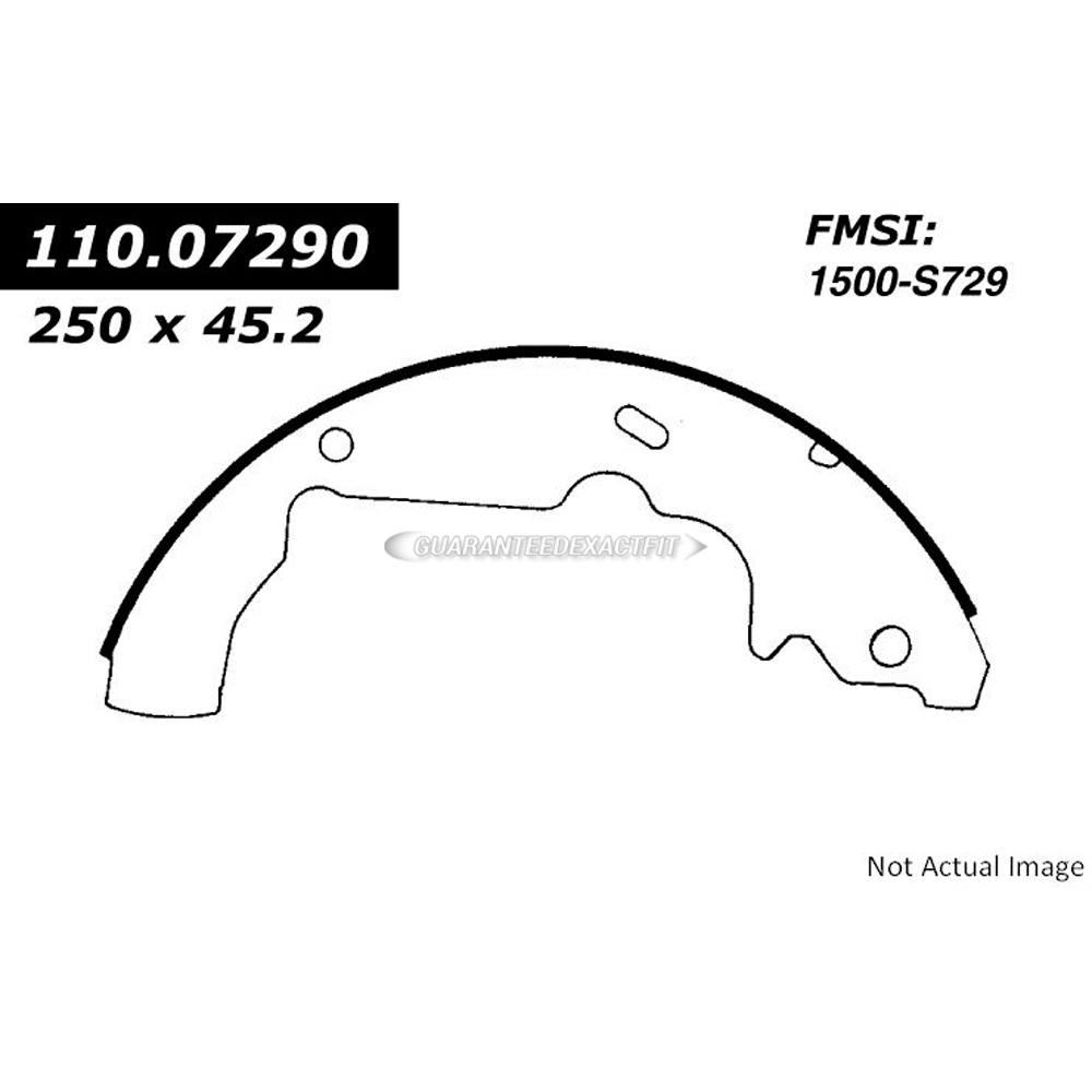Centric Parts 111.07290 Brake Shoe