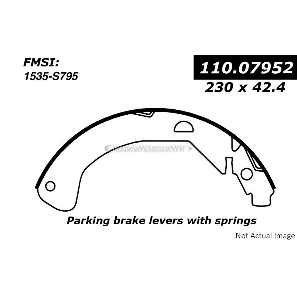 Centric Parts 111.07952 Brake Shoe Set