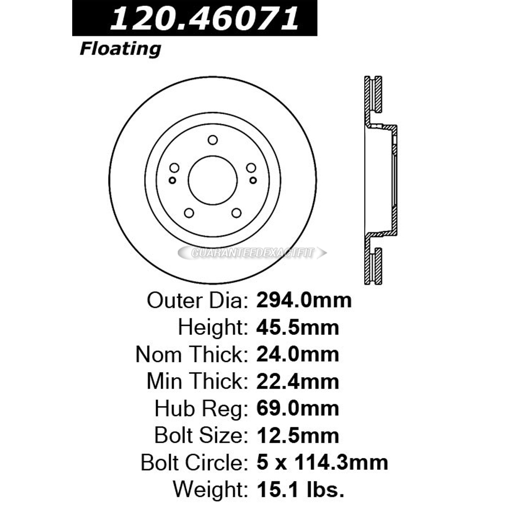 Centric Parts 120.46071 Brake Rotor