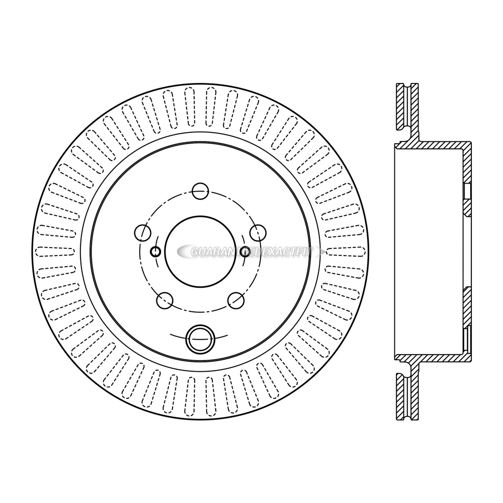 Centric Parts 120.47035 Brake Rotor