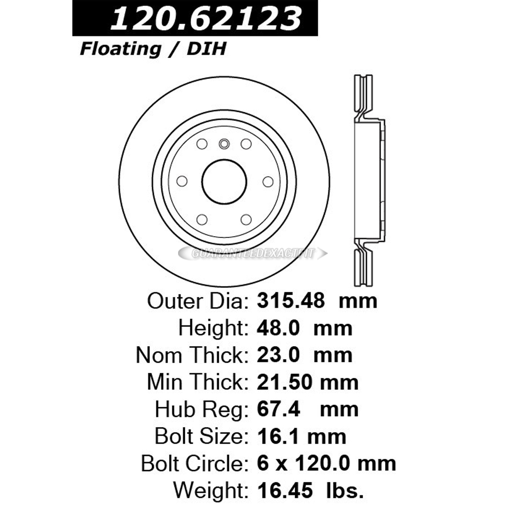Centric Parts 120.62123 Brake Rotor