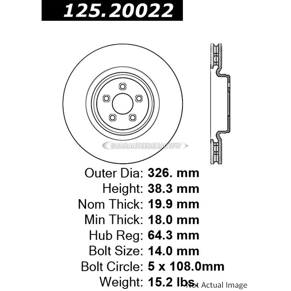 Jaguar XK Brake Rotor - OEM & Aftermarket Replacement Parts