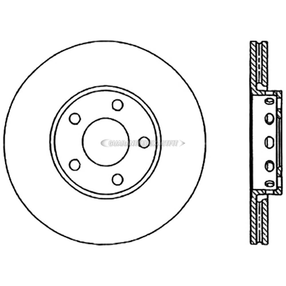 Centric Parts 125.33072 Brake Rotor