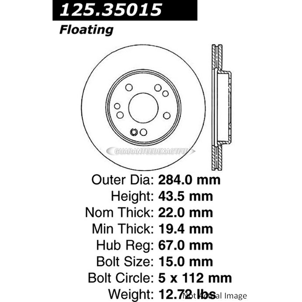 Centric Parts 125.35015 Brake Rotor