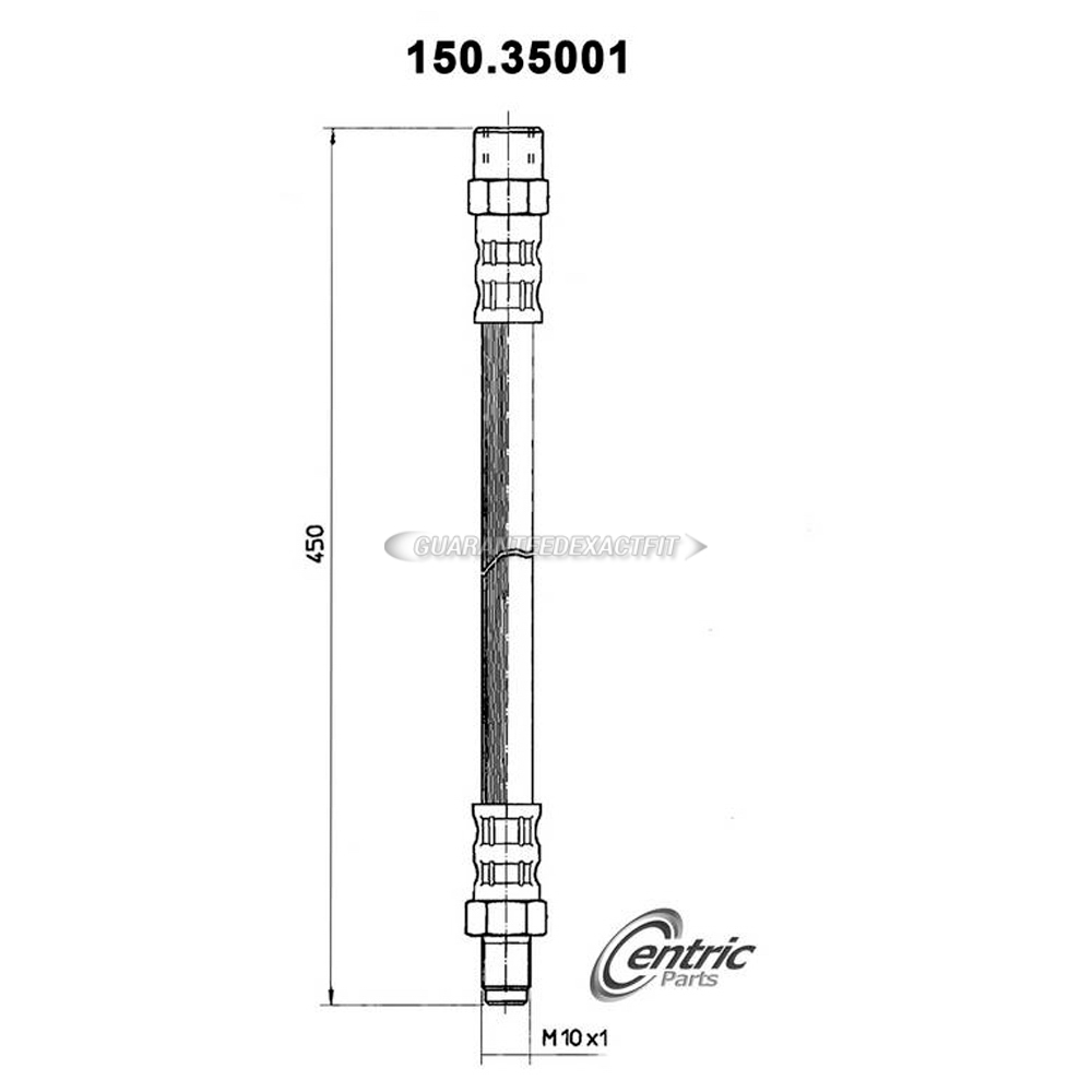 Mercedes Benz 280C Brake Hydraulic Hose