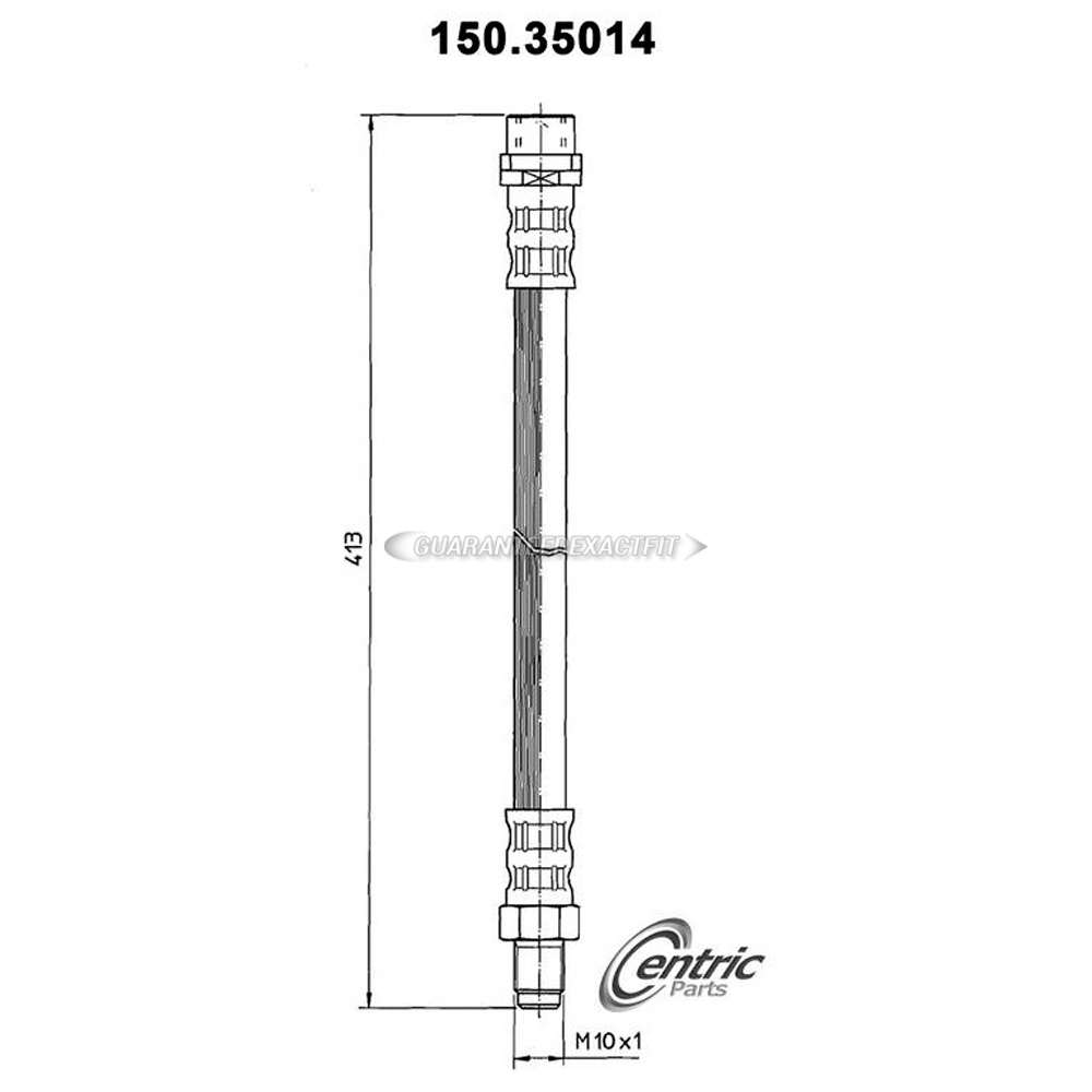 Mercedes Benz CLK63 AMG Brake Hydraulic Hose
