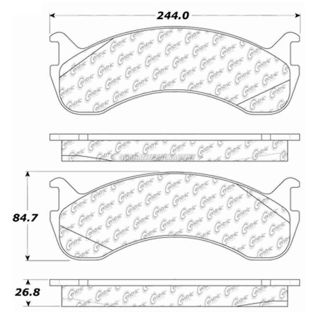 300.07861 Centric Parts Disc Brake Pad P//N:300.07861