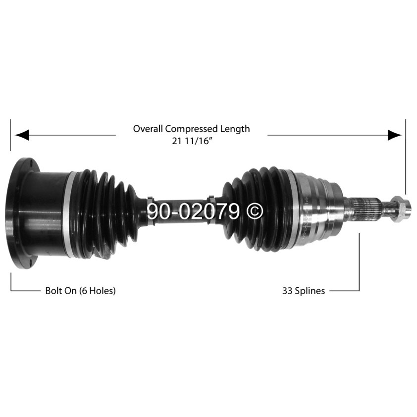 Hummer  Drive Axle Front