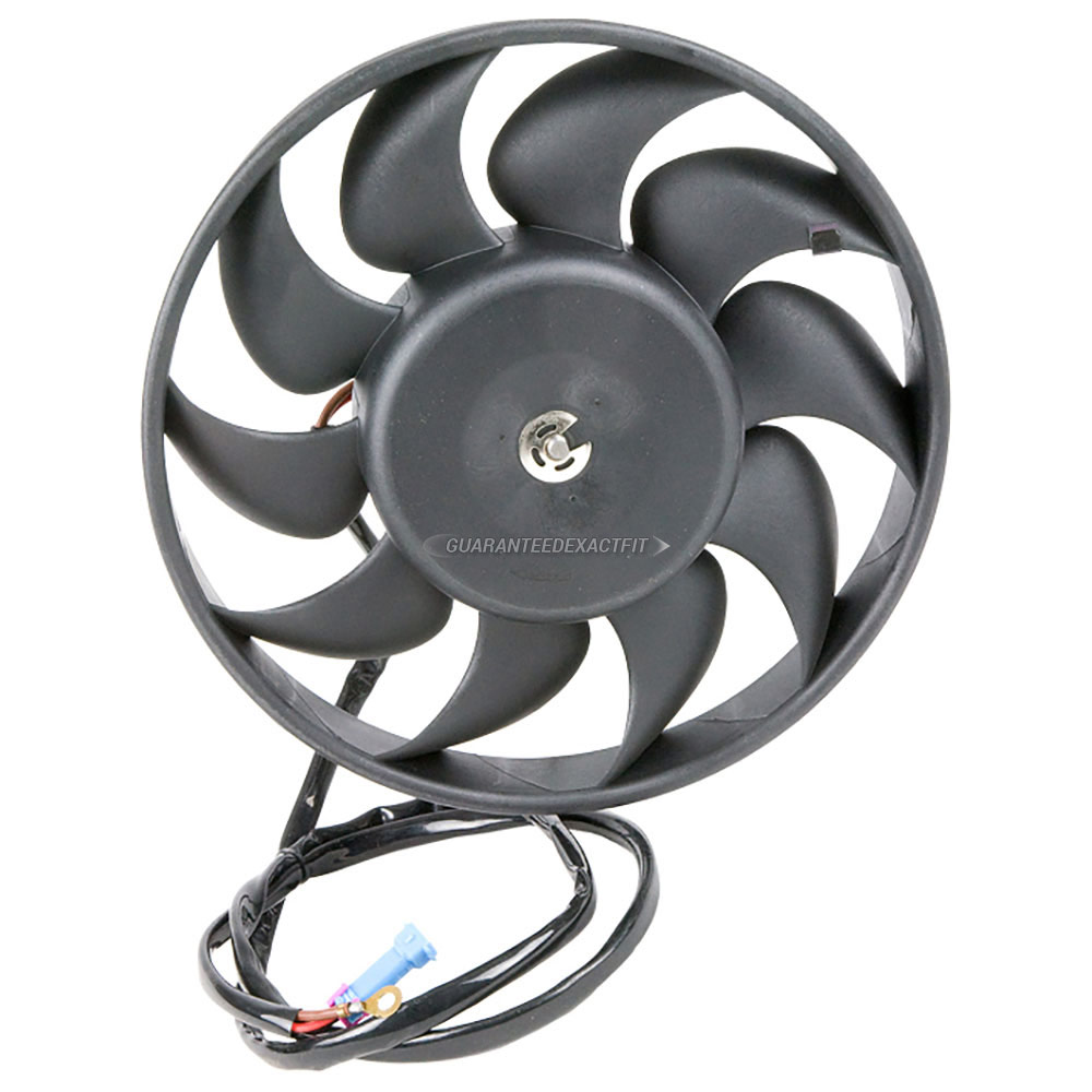 Audi cabriolet cooling fan assembly