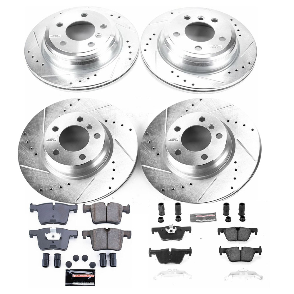 2016 BMW 330e Performance Disc Brake Pad and Rotor Kit